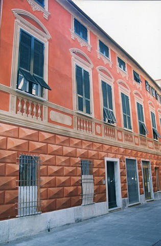 Arte sui muri facciate dipinte liguri genova trompe l 39 oeil insegne dipinte decorazioni soffitti - Decorazioni sui muri ...